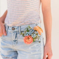 DIY My Fourth of July: A Firework Embroidered Jean Shorts Idea