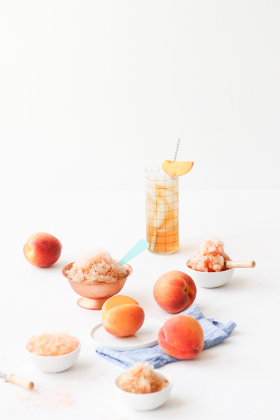 Sweet Peach Tea Granita. Check out 42 of the Best Summer Recipes to Get you Ready for July Fourth.