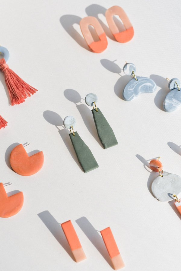 How to Make Clay Earrings + DIY Clay Jewelry Techniques That Will Turn Heads. #clayearrings #diy #diyclay #diyjewelry #clayjewelry