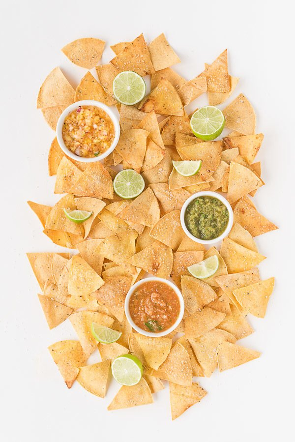 Homemade Chips and Salsa Trio. Check out 42 of the Best Summer Recipes to Get you Ready for July Fourth.