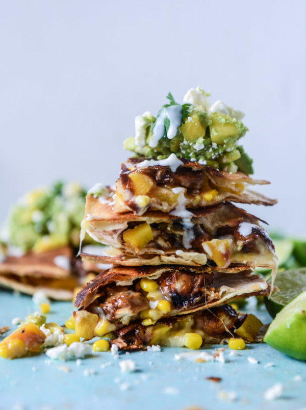 Honey-Glazed Chicken Quesadillas with Peach Guacamole. Check out 42 of the Best Summer Recipes to Get you Ready for July Fourth.