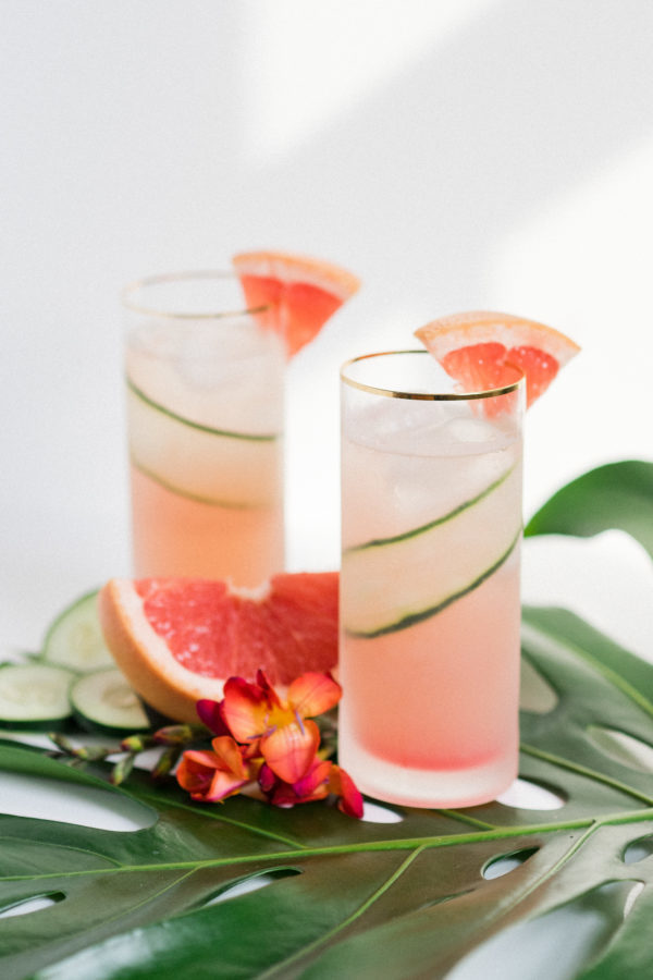 Grapefruit Cucumber Gin Cooler Cocktail. Check out 42 of the Best Summer Recipes to Get you Ready for July Fourth.