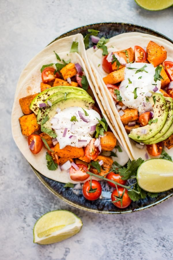 Roasted Sweet Potato Tacos from Salt and Lavender. Check out 42 of the Best Summer Recipes to Get you Ready for July Fourth.