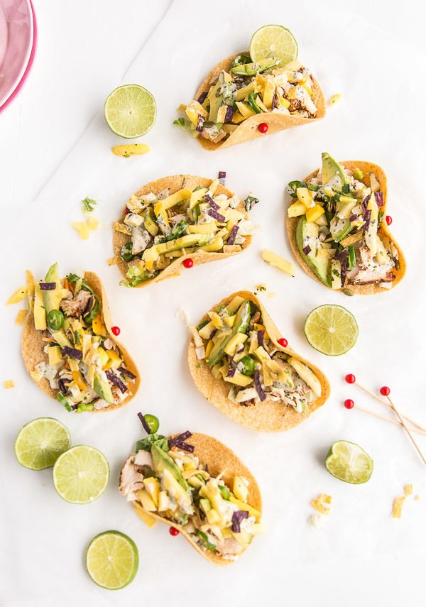 Pineapple Mango Chicken Tacos Recipe. Check out 42 of the Best Summer Recipes to Get you Ready for July Fourth.