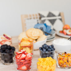 Hey Shortie: An Easy Summer Shortcake Bar with Fresh Fruit and Homemade Whipped Cream