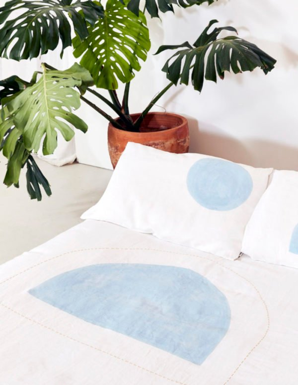 Beachy linen duvet from the Vallentine Project. Get down (under) with 18 Inpsiring Australian Designers and Artists #australiandesign #australia #designinspiration #bedroom #bedding