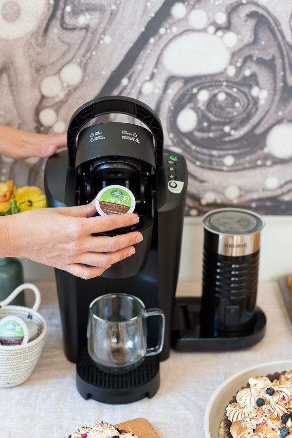 Making lattes with Keurig.