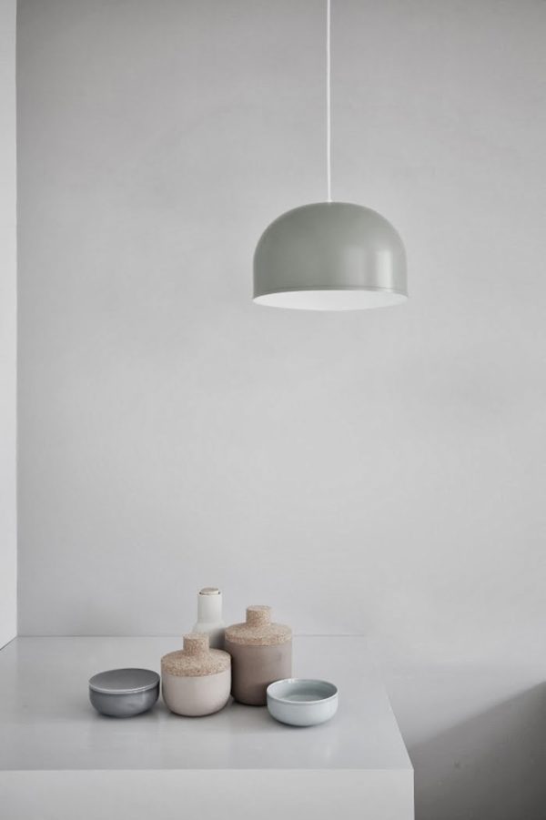 Recreate this light using a bowl and light kit. Interior Obsession: I Spy 8 Lighting Trends You Can Totally DIY #lighting #bowl #pendant #gray #diyideas
