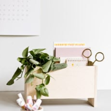 How to Make a Modern DIY Desk Organizer for Back to School and Beyond