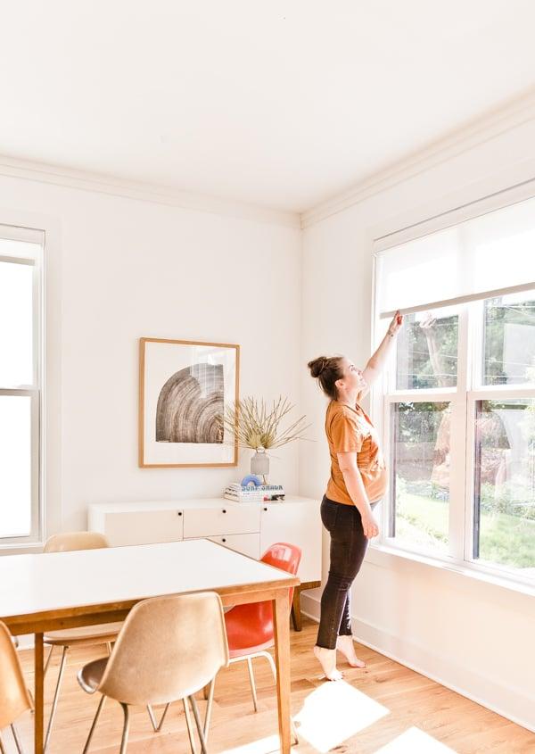 The home of Brittni Mehlhoff, editor of Paper and Stitch. #organicmoderndecor #organicmoder #diningroom #midcenturydiningroom #minimalmoderndining