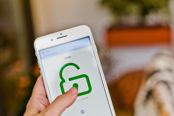 Unlock your door with your smartphone.