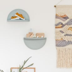 A Unique DIY Shelving Idea: How to Make Wood Half Circle Shelves
