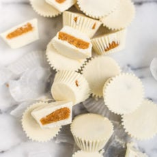 White Chocolate Pumpkin Pie Candy Cups Recipe
