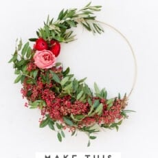 How to Make A Wreath (Unique and Asymmetrical)