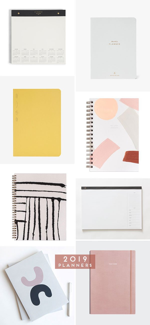 Cool 2019 Calendars that Will Keep You Organized and On Top of Things! #2019calendar #calendar #papergoods #2019planner #planners