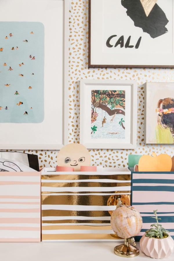 33 Ways to Organize Your Life: DIY Kid's Art Cubbies. #organization #organized