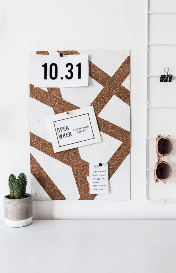 33 Ways to Organize Your Life: DIY Geo Cork Board. #organization #organized