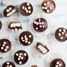 A Marshmallow Lovers Hot Cocoa Candy Cups Recipe
