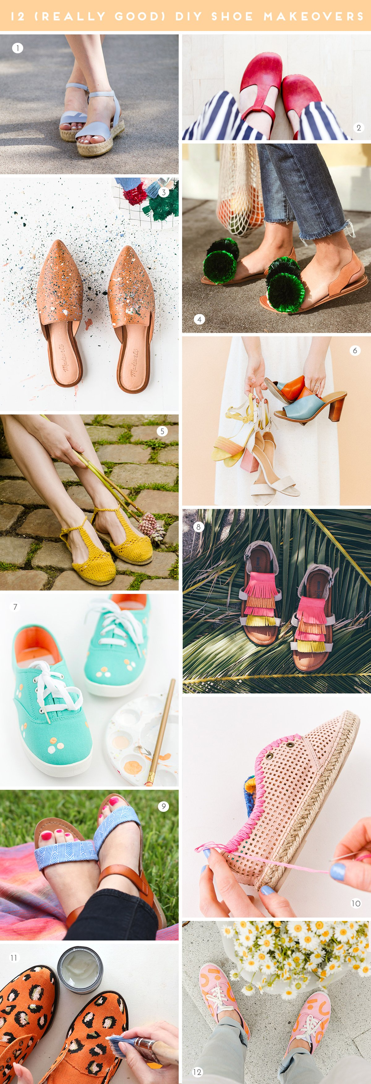 12 (Really Good) DIY Ways to Give Your Old Shoes a Makeover #diyshoes #shoes #diy #diyfashion
