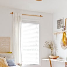 How to Make DIY Curtain Rods for Less than $10