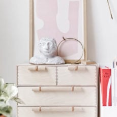 A Minimal Modern Ikea Hack that will Instantly Elevate Your Moppe Mini Storage Chest