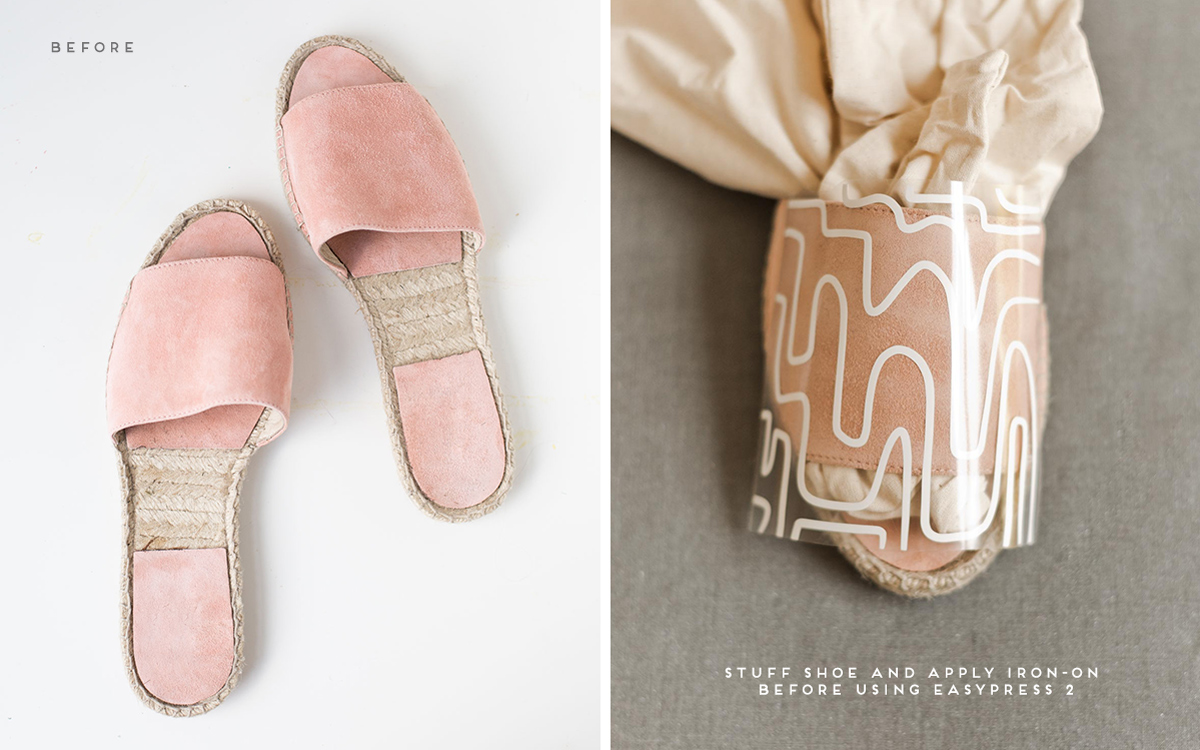 Summer DIY to Try // Give old sandals new life with a quick (and easy) makeover. Click through for the tutorial AND free downloadable patterns to add unique prints to nearly anything you can think of. #diy #diysummer #summer #summeraccessories #sandals