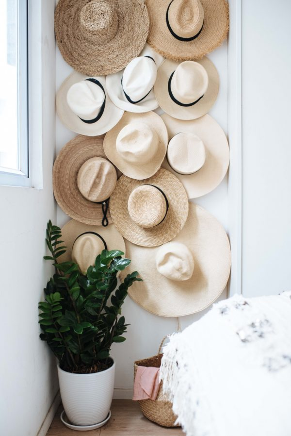 DIY hat hanging from A Pair & A Spare. 9 Clever Ideas for Organization & Storage in Small Spaces. #hat #storage #diy #hanging #ideas #organization