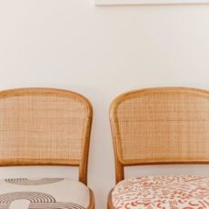 Take a Seat: How to Reupholster a Fabric Seat Chair