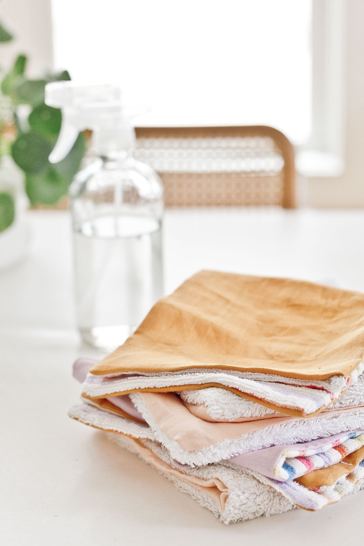 DIY unpaper towels! Use them for everything from cleaning and spills to wiping any faces, etc.