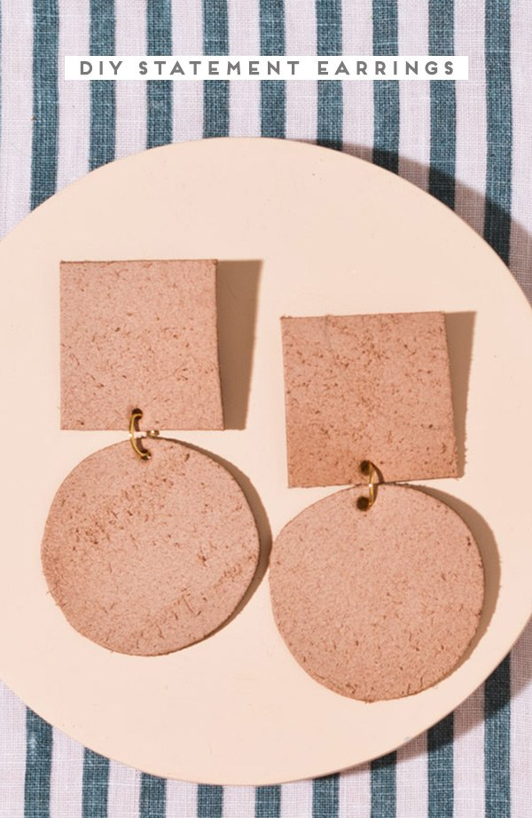DIY statement earrings! #diyearrings #diyjewelry #diyleatherproject #diyaccessories #diyfashion