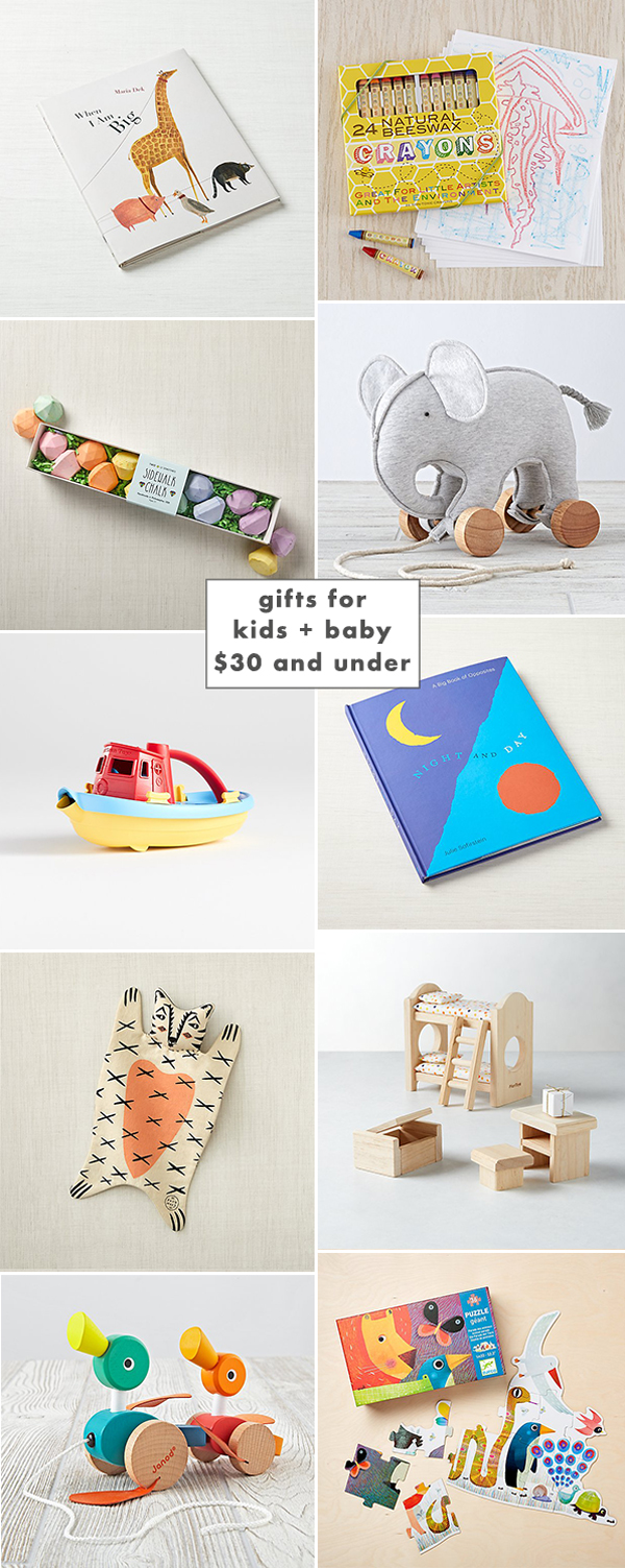 Shop holiday gifts for kids and baby. Everything you see here is $30 or less!