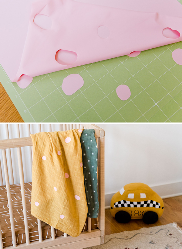 Using Cricut Maker to embellish swaddle blankets