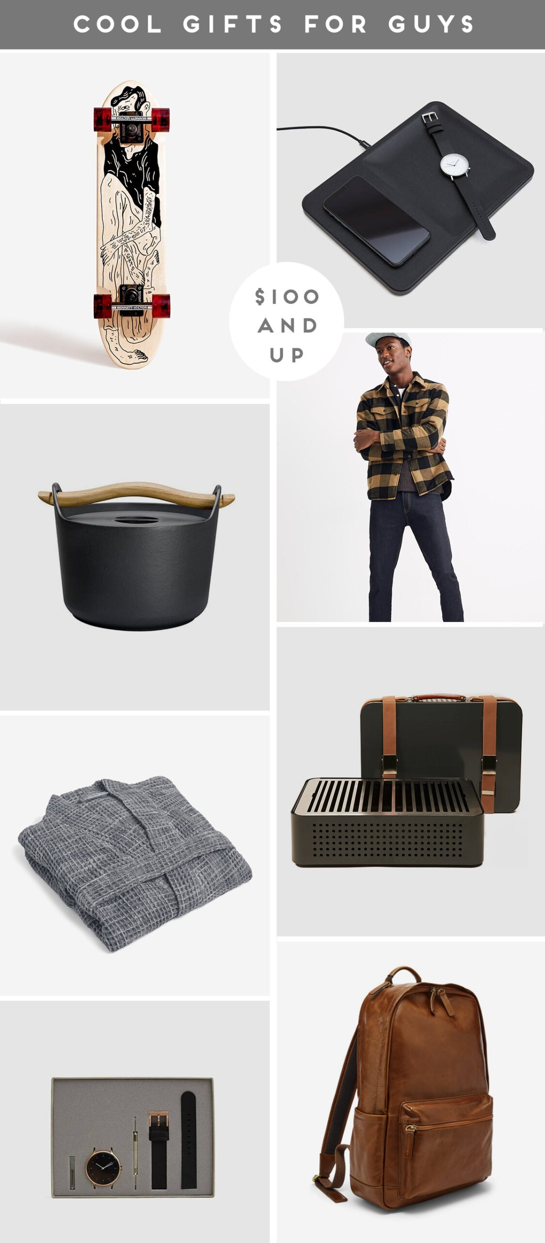 A roundup of cool gifts for guys ($100 and up)