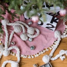 A DIY Drop Cloth Xmas Tree Skirt Two Ways
