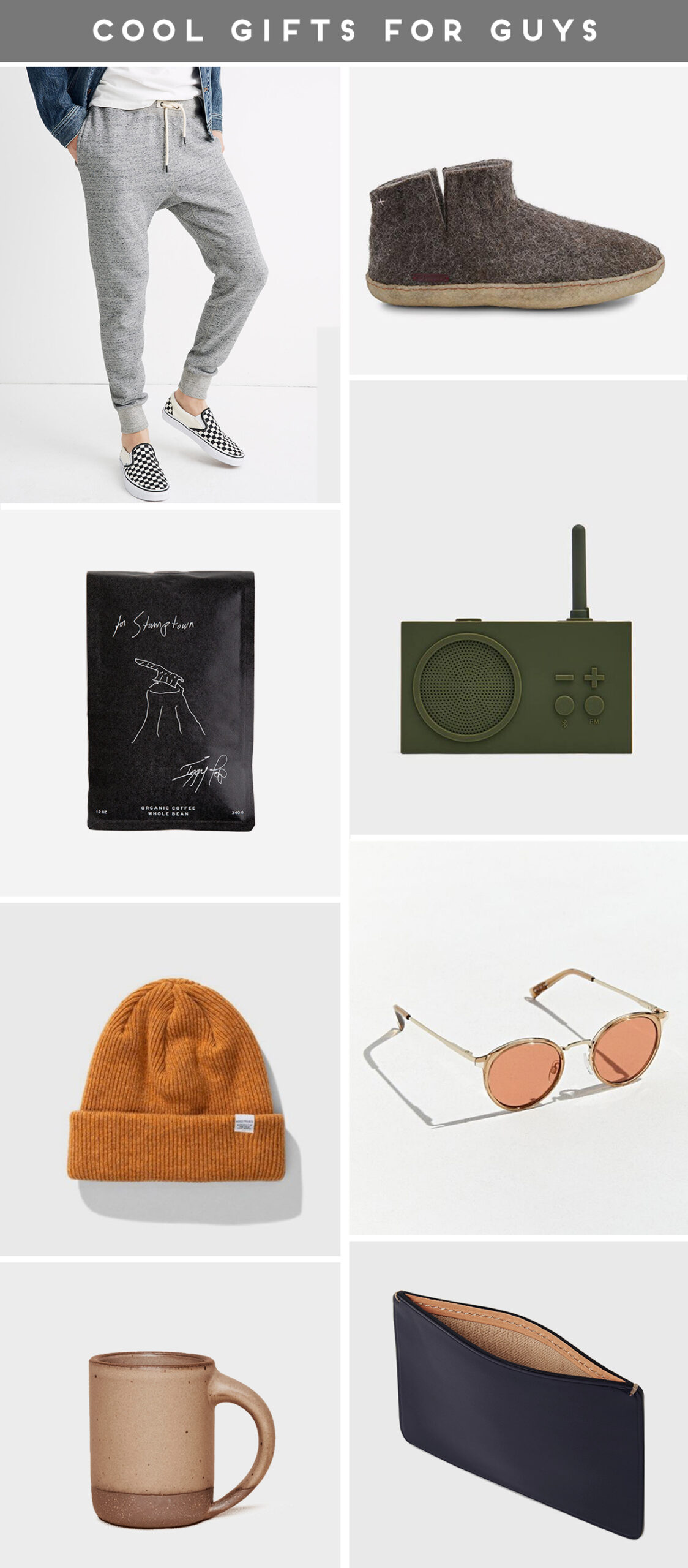 Cool gifts for guys (roundup of holiday presents for every budget)
