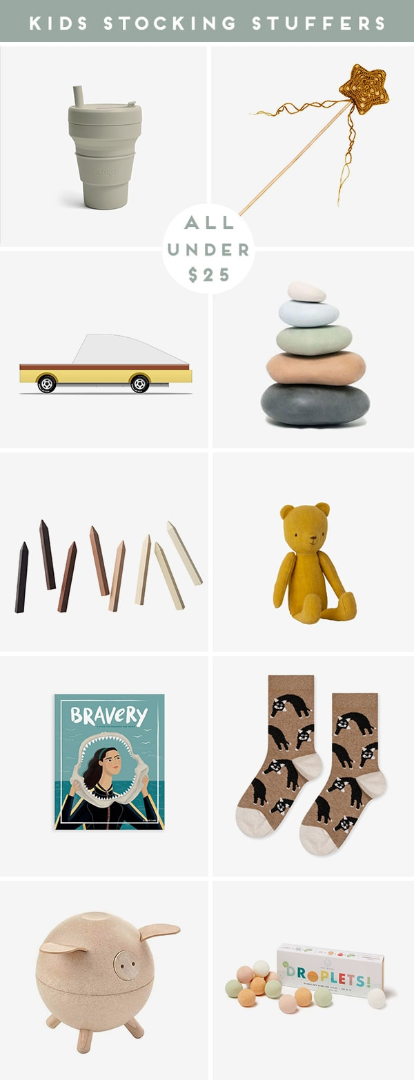 Roundup of kid's product images that are cool stocking stuffers.