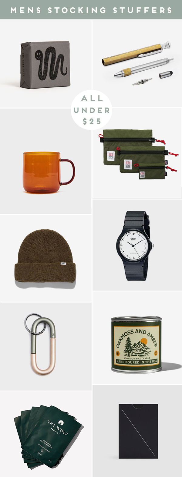 Stocking stuffer ideas for men (under $25)