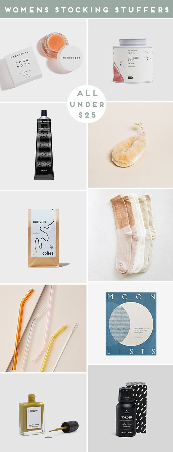 Roundup of women's product images that are cool stocking stuffers for the holidays.