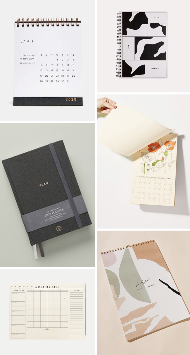 A product roundup of 2020 Calendars and Planners