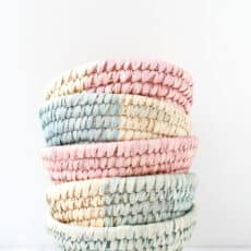 10 Minute DIY to Try: Dip Dyed Woven Baskets