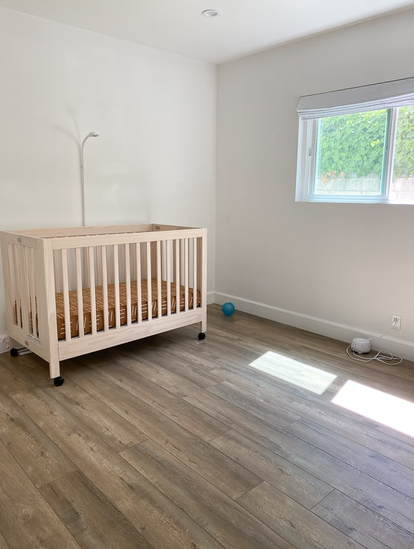 Before photo of nursery / kids room.