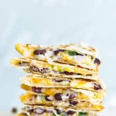 The Easiest 5 Minute Black Bean Quesadillas (Vegetarian Quesadilla Recipe)