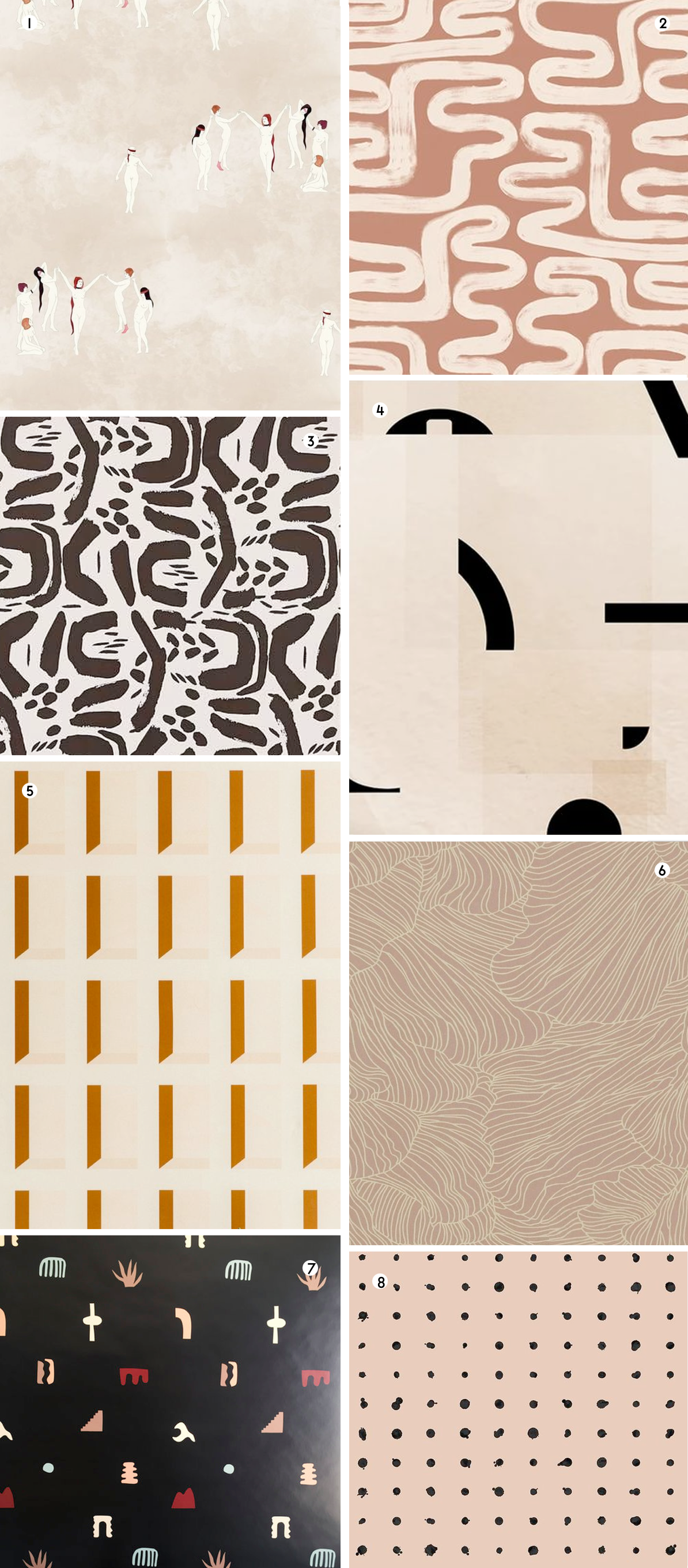 Neutral wallpaper designs roundup of favorites
