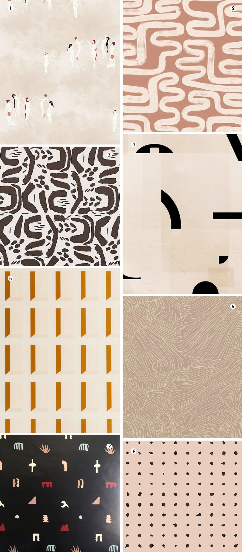 Neutral wallpaper designs roundup of favorites