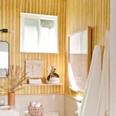 A Yellow Bathroom I Actually Love (My Renters Bathroom Reveal)