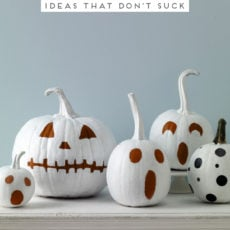 Halloween Queen: 38 Modern No-Carve Pumpkin Decorating Ideas to Try Before Halloween