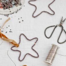 Easy DIY Christmas Craft: Beaded Star Ornaments