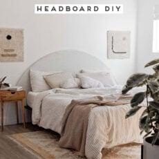 A Cool, DIY Headboard That Makes a Statement (Half Circle Headboard)