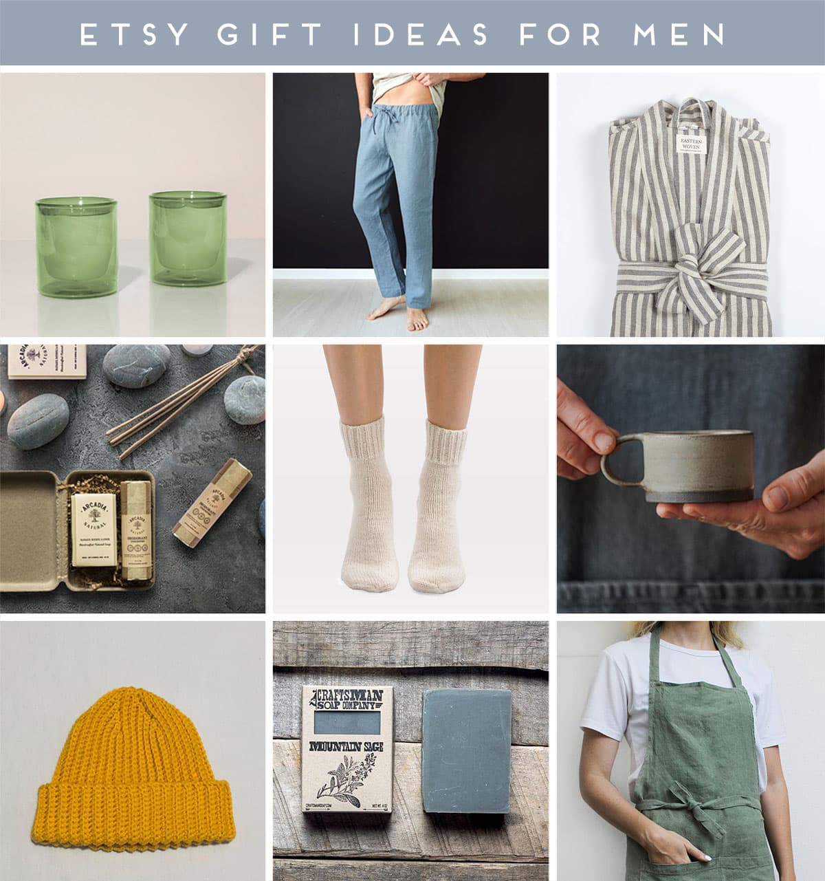 Roundup of images featuring Etsy gifts for men