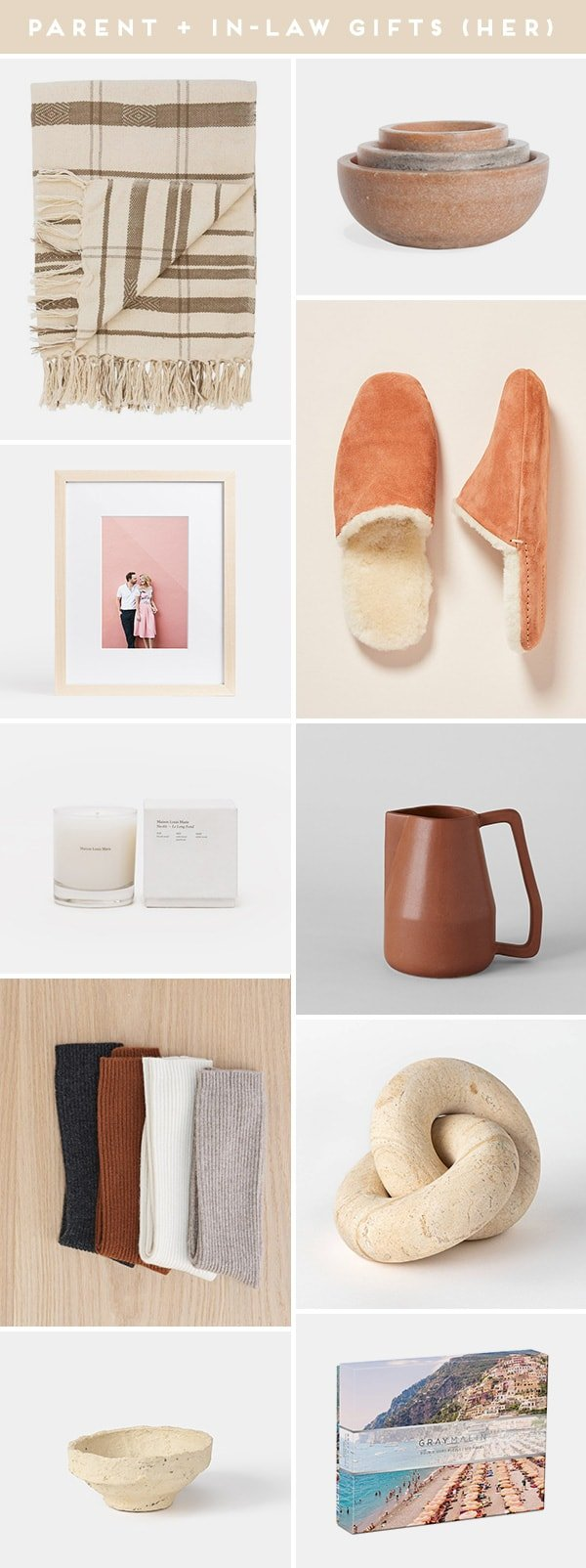 Images of gift ideas for parents and in-laws (hers edition)